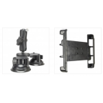 Adjustable iPad 9.7/10.5 Mounting Cradle and Table Top Suction Mount Arm